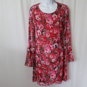 NWT B Darlin Floral Print Dress Size 13/14
